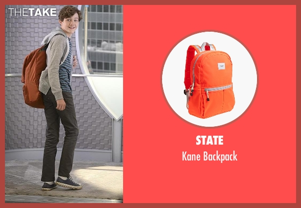 State orange backpack from Supergirl seen with Carter Grant (Levi Miller)
