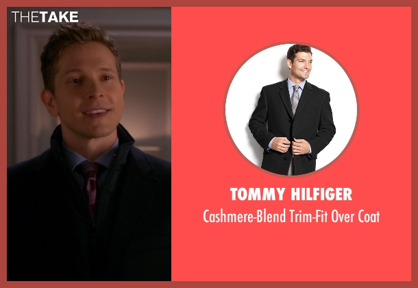 Tommy Hilfiger black coat from The Good Wife seen with Cary Agos  (Matt Czuchry)