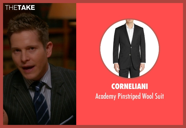 Corneliani black suit from The Good Wife seen with Cary Agos  (Matt Czuchry)