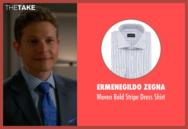 Ermenegildo Zegna	 blue shirt from The Good Wife seen with Cary Agos  (Matt Czuchry)