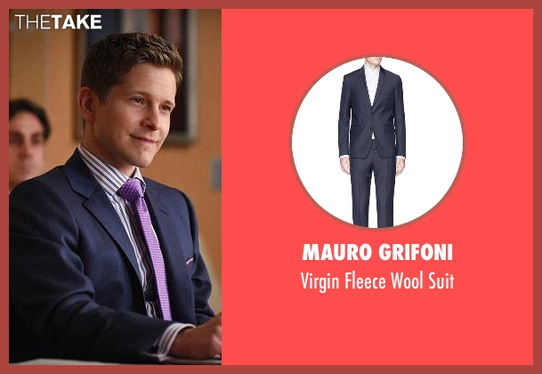 Mauro Grifoni blue suit from The Good Wife seen with Cary Agos  (Matt Czuchry)