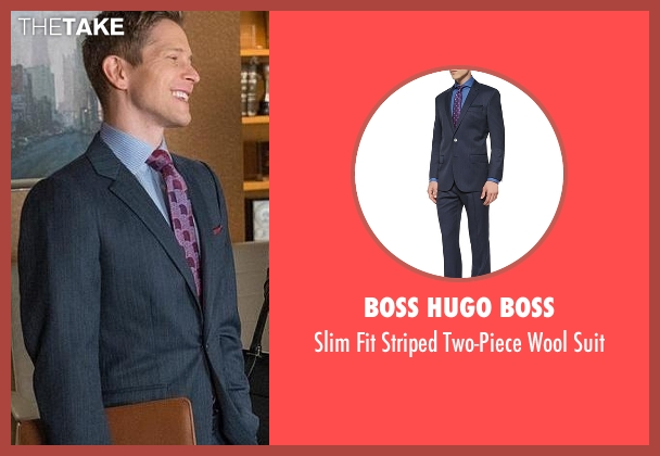 Boss Hugo Boss blue suit from The Good Wife seen with Cary Agos  (Matt Czuchry)