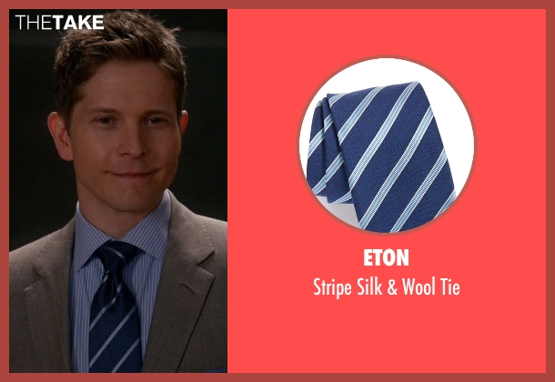 Eton blue tie from The Good Wife seen with Cary Agos  (Matt Czuchry)