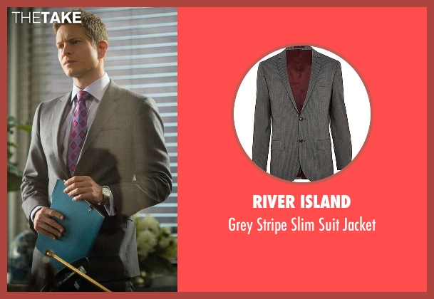 River Island gray jacket from The Good Wife seen with Cary Agos  (Matt Czuchry)