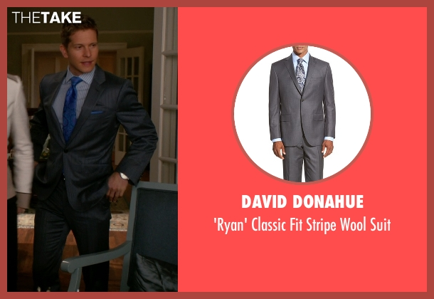 David Donahue gray suit from The Good Wife seen with Cary Agos  (Matt Czuchry)