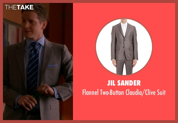 Jil Sander gray suit from The Good Wife seen with Cary Agos  (Matt Czuchry)
