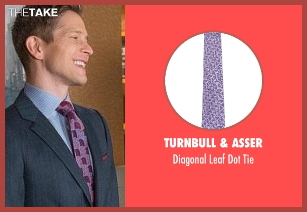 Turnbull & Asser purple tie from The Good Wife seen with Cary Agos  (Matt Czuchry)