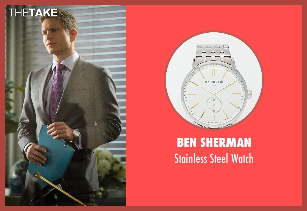 Ben Sherman silver watch from The Good Wife seen with Cary Agos  (Matt Czuchry)