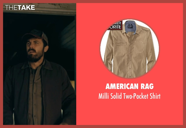 American Rag brown shirt from Interstellar seen with Casey Affleck (Tom)