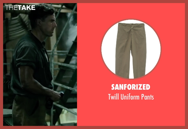 Sanforized beige pants from The Finest Hours seen with Casey Affleck (Ray Sybert)