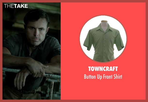 Towncraft green shirt from The Finest Hours seen with Casey Affleck (Ray Sybert)