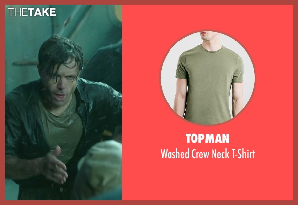 Topman green t-shirt from The Finest Hours seen with Casey Affleck (Ray Sybert)