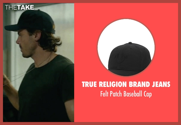 True Religion Brand Jeans black cap from Triple 9 seen with Casey Affleck (Chris Allen)