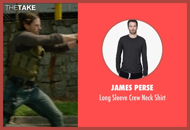 James Perse gray shirt from Triple 9 seen with Casey Affleck (Chris Allen)