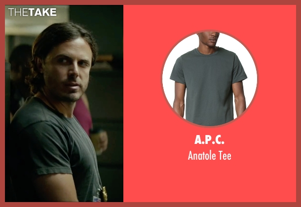 A.P.C. gray tee from Triple 9 seen with Casey Affleck (Chris Allen)