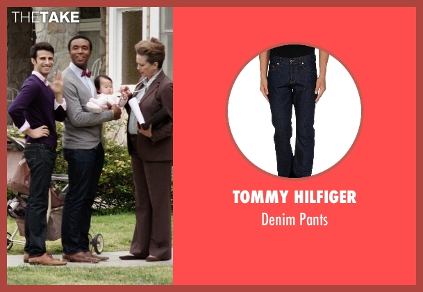 Tommy Hilfiger blue pants from Neighbors seen with Casey Ford Alexander (Gay Couple)
