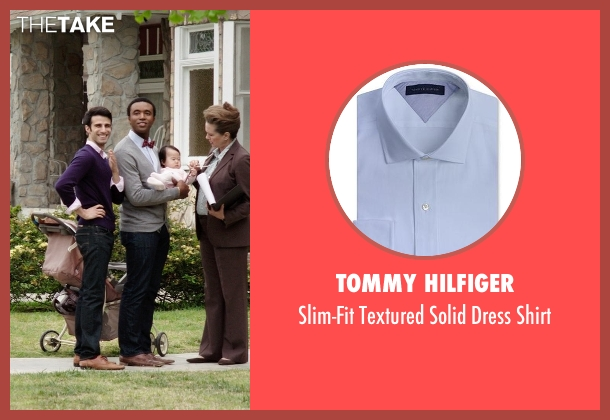 Tommy Hilfiger blue shirt from Neighbors seen with Casey Ford Alexander (Gay Couple)