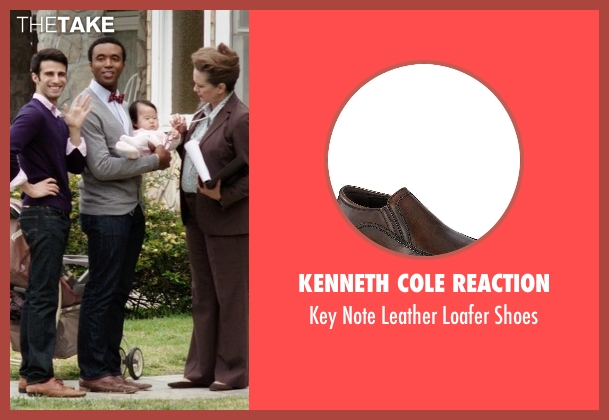 Kenneth Cole Reaction brown shoes from Neighbors seen with Casey Ford Alexander (Gay Couple)