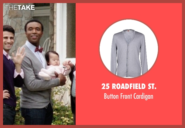 25 Roadfield St. gray cardigan from Neighbors seen with Casey Ford Alexander (Gay Couple)