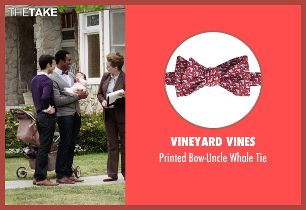 Vineyard Vines red tie from Neighbors seen with Casey Ford Alexander (Gay Couple)