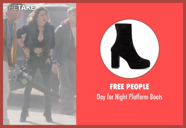 Free People black boots from Sharknado 4: The Fourth Awakens seen with Cassandra Scerbo (Nova)