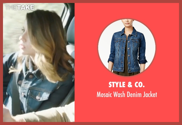 Style & Co. blue jacket from Sharknado 4: The Fourth Awakens seen with Cassandra Scerbo (Nova)
