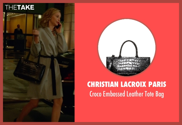Christian Lacroix Paris black bag from Supergirl seen with Cat Grant (Calista Flockhart)