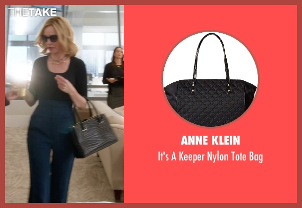 Anne Klein black bag from Supergirl seen with Cat Grant (Calista Flockhart)