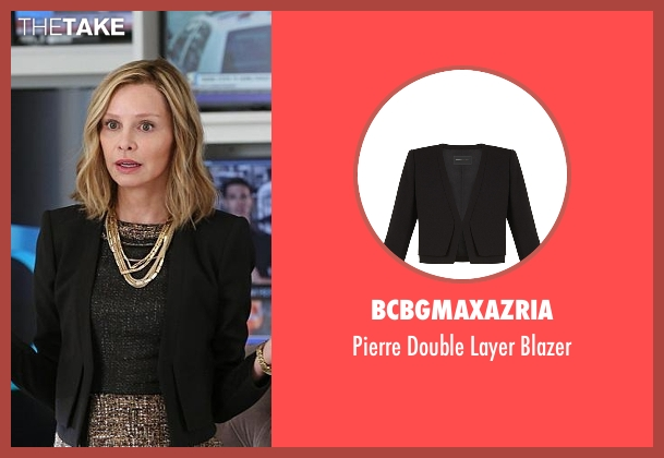 BCBGMAXAZRIA black blazer from Supergirl seen with Cat Grant (Calista Flockhart)