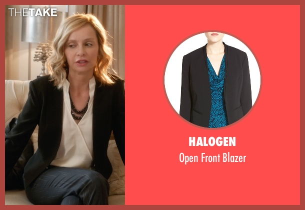 Halogen black blazer from Supergirl seen with Cat Grant (Calista Flockhart)