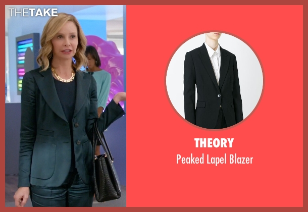 Theory black blazer from Supergirl seen with Cat Grant (Calista Flockhart)