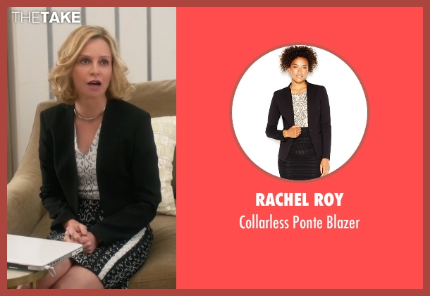 Rachel Roy black blazer from Supergirl seen with Cat Grant (Calista Flockhart)