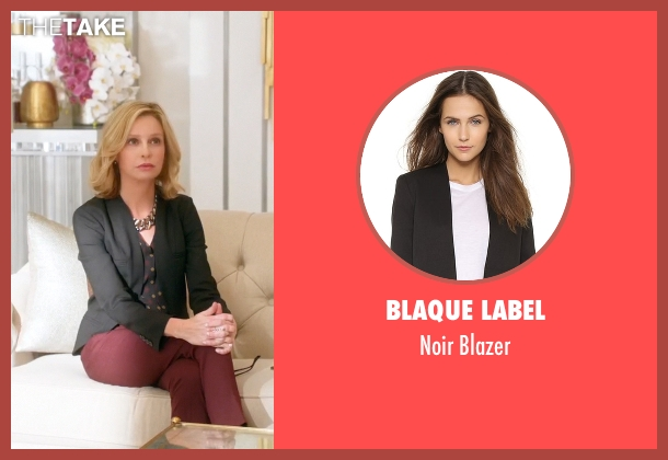 Blaque Label black blazer from Supergirl seen with Cat Grant (Calista Flockhart)