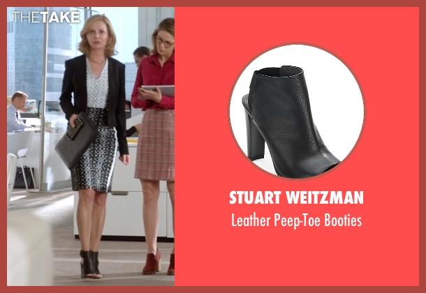 Stuart Weitzman black booties from Supergirl seen with Cat Grant (Calista Flockhart)