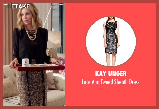 Kay Unger black dress from Supergirl seen with Cat Grant (Calista Flockhart)