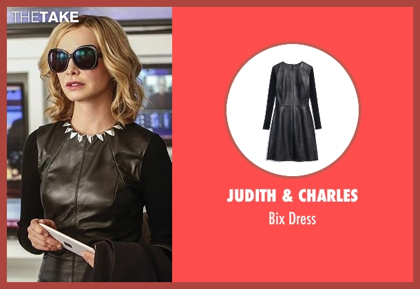 Judith & Charles black dress from Supergirl seen with Cat Grant (Calista Flockhart)