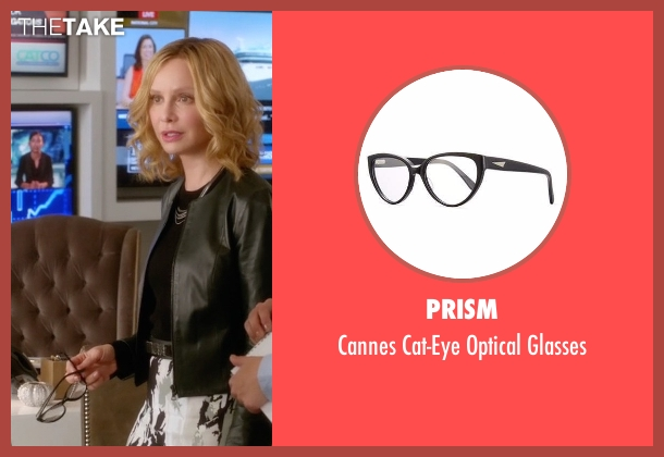 Prism black glasses from Supergirl seen with Cat Grant (Calista Flockhart)