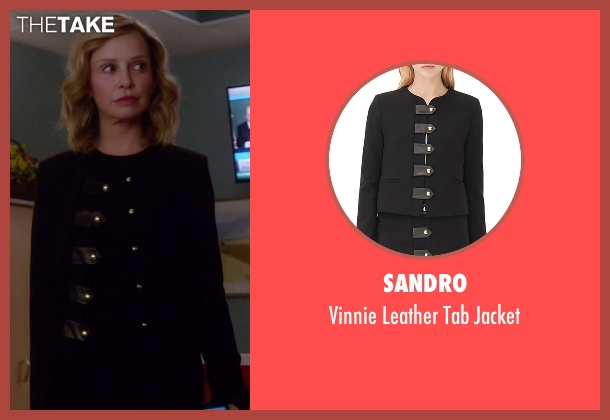 Sandro black jacket from Supergirl seen with Cat Grant (Calista Flockhart)