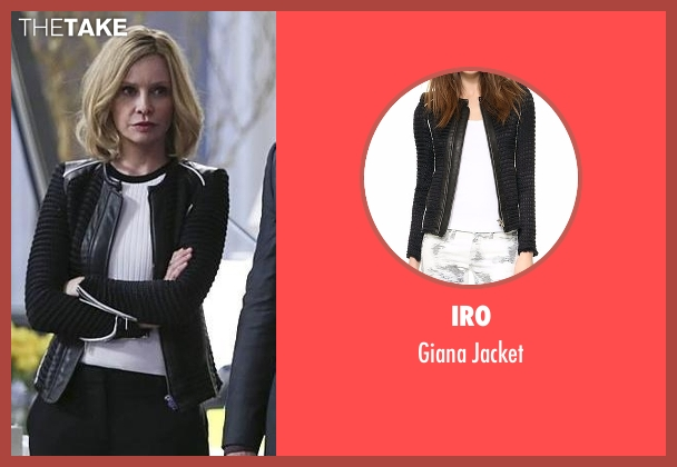 IRO black jacket from Supergirl seen with Cat Grant (Calista Flockhart)