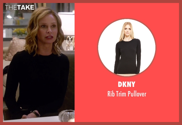 DKNY black pullover from Supergirl seen with Cat Grant (Calista Flockhart)