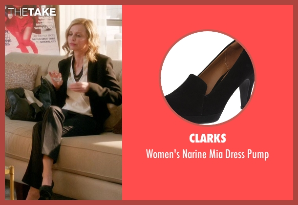 Clarks black pump from Supergirl seen with Cat Grant (Calista Flockhart)