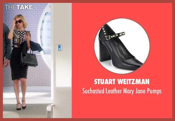 Stuart Weitzman black pumps from Supergirl seen with Cat Grant (Calista Flockhart)