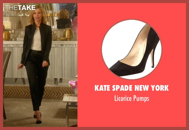 Kate Spade New York black pumps from Supergirl seen with Cat Grant (Calista Flockhart)