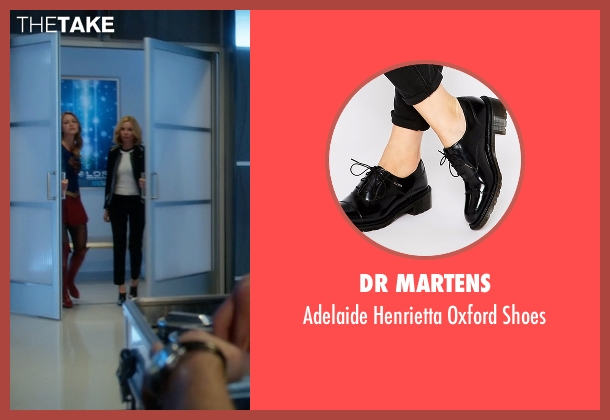 Dr Martens black shoes from Supergirl seen with Cat Grant (Calista Flockhart)