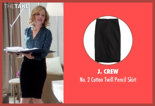J. Crew black skirt from Supergirl seen with Cat Grant (Calista Flockhart)