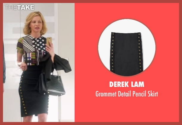 Derek Lam black skirt from Supergirl seen with Cat Grant (Calista Flockhart)