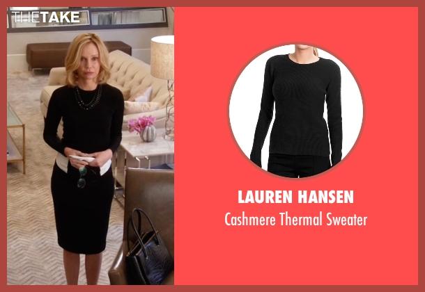 Lauren Hansen black sweater from Supergirl seen with Cat Grant (Calista Flockhart)