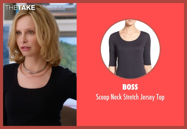 Boss black top from Supergirl seen with Cat Grant (Calista Flockhart)