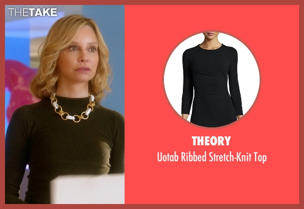 Theory black top from Supergirl seen with Cat Grant (Calista Flockhart)