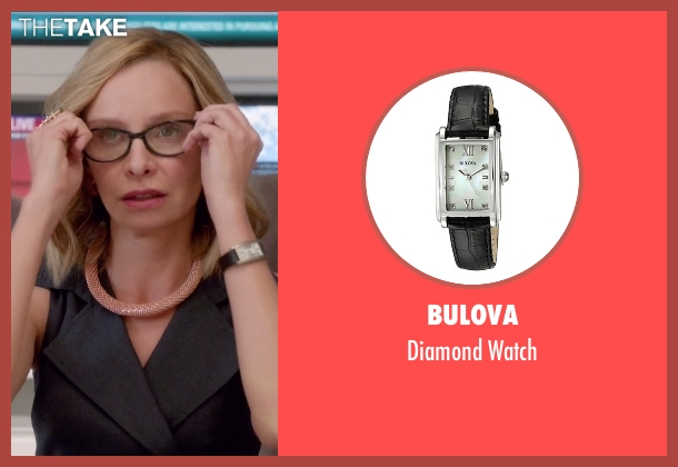 Bulova black watch from Supergirl seen with Cat Grant (Calista Flockhart)